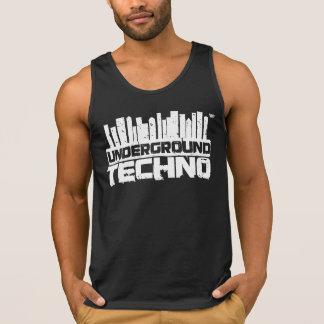 Techno subterrâneo - camisola de alças dos homens