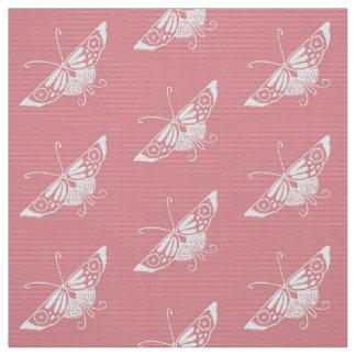Tecido A borboleta estilizado de Deco, Shell pica