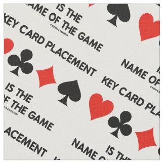 Tecido A colocação do cartão chave é o nome de The Game