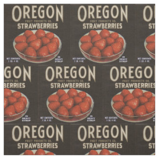 Tecido a fruta das morangos de Oregon dos anos 30 pode