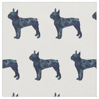 Tecido A silhueta do cão de Boston Terrier telhou o