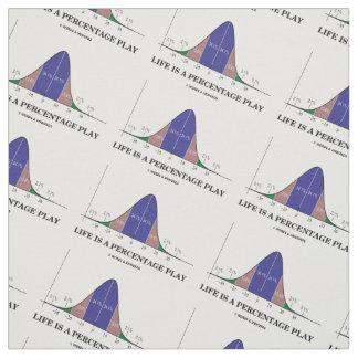 Tecido A vida é um humor do Stats da curva de Bell do