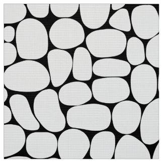 Tecido Abstrato 160417 - Branco no preto