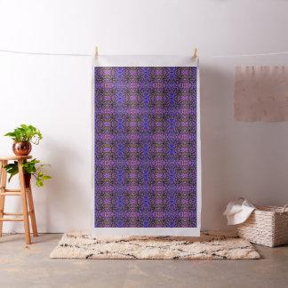 Tecido Abstrato da folha no azul, no rosa e no Sienna