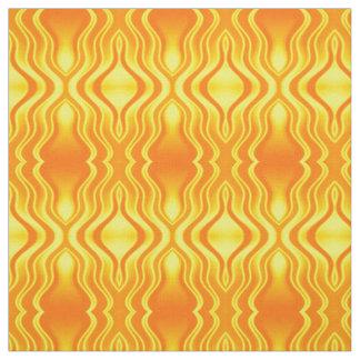 Tecido Abstrato do amarelo alaranjado das vaga de calor