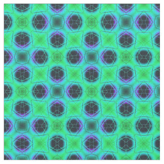 Tecido Abstrato geométrico azul roxo verde