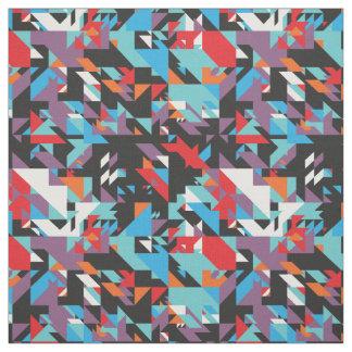 Tecido abstrato geométrico retro do teste padrão