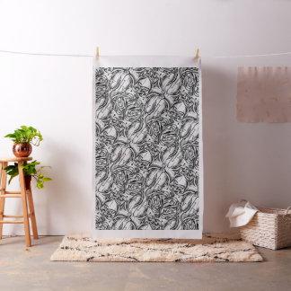 Tecido abstrato preto e branco da pintura