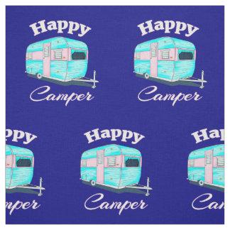 Tecido Acampamento do reboque de campista feliz