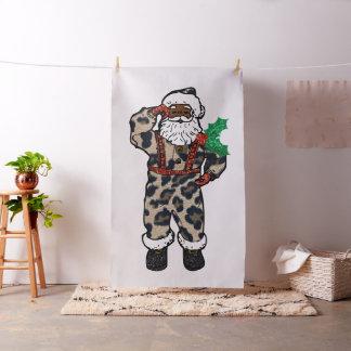 tecido africano de Papai Noel do leopardo