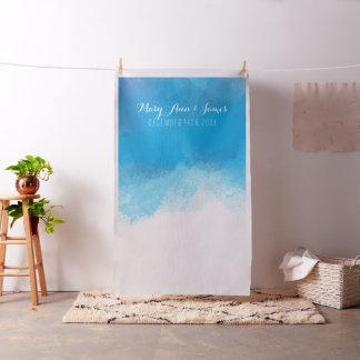 Tecido Aguarela do azul do contexto da foto do casamento
