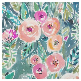 Tecido Aguarela do jardim luxúria floral