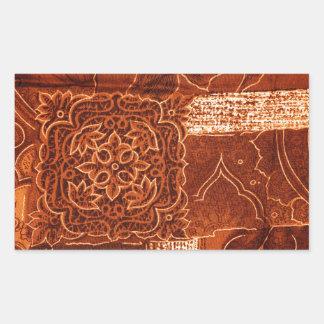 tecido alaranjado dos retalhos adesivo em formato retângular