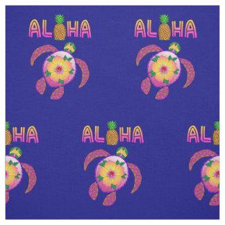 Tecido Aloha tartaruga havaiana de Honu