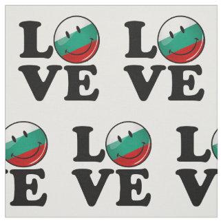 Tecido Amor da bandeira de sorriso de Bulgária