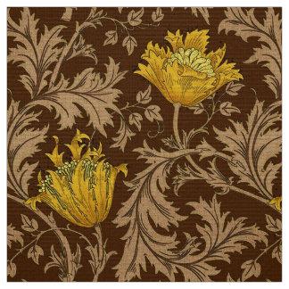 Tecido Anêmona de William Morris, Brown e ouro da