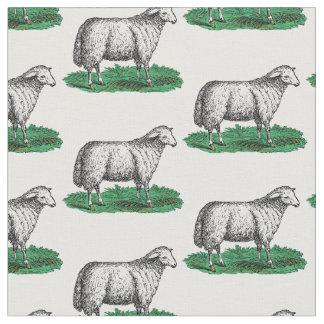 Tecido Animais de fazenda da ovelha dos carneiros do