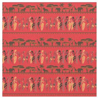 Tecido animal dos dançarinos do safari africano