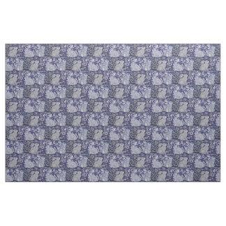 Tecido Arte azul & branca de Dedham do coelho do azulejo