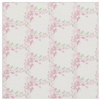 Tecido Arte cor-de-rosa macia bonito da aguarela da flor