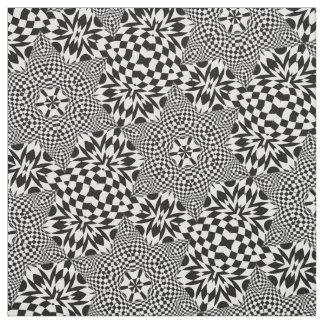 Tecido Arte Op preto e branco
