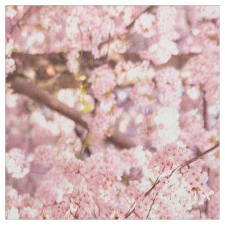 Tecido Árvores da flor de cerejeira