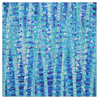 Tecido As listras e os pontos do cetim abstraem, azuis