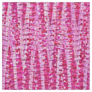 Tecido As listras e os pontos do cetim abstraem, rosa do