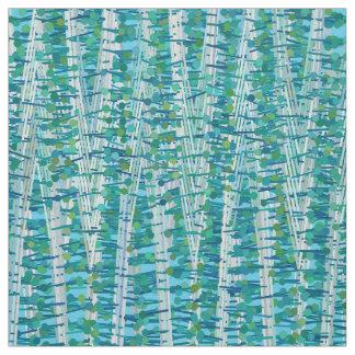 Tecido As listras e os pontos do cetim abstraem, turquesa