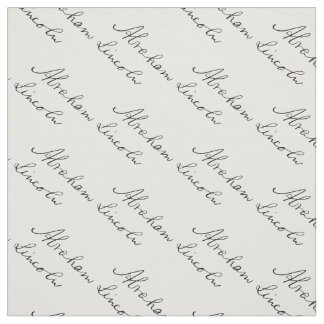 Tecido Assinatura da escrita do presidente Abraham
