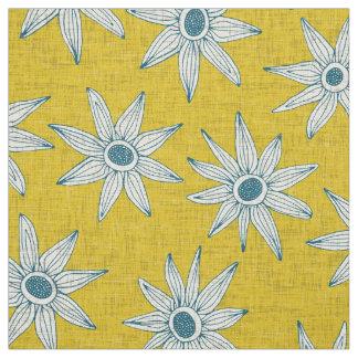 Tecido azul amarelo do sema
