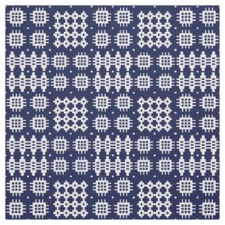 Tecido Azul branco do ondark da tapeçaria do falso de
