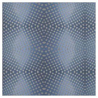 Tecido azul da foto da malha do metal