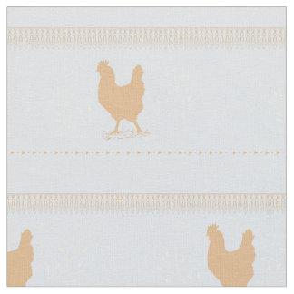 tecido azul da galinha