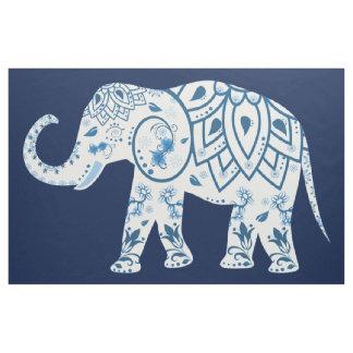 Tecido azul da pintura mural do elefante da