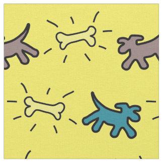Tecido azul do osso de cão Y do estilo