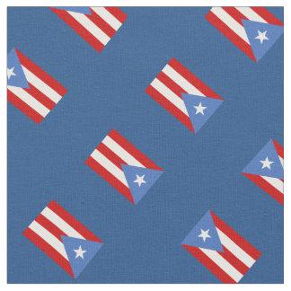 Tecido Azul: Tradicional: Bandeira de Puerto Rico
