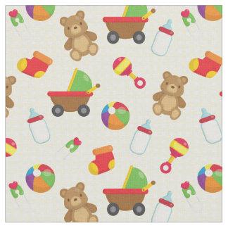 Tecido BabyToys adorável - perfeito para a edredão do