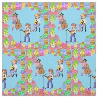 Tecido Banda de canto ocidental da vaqueira do país