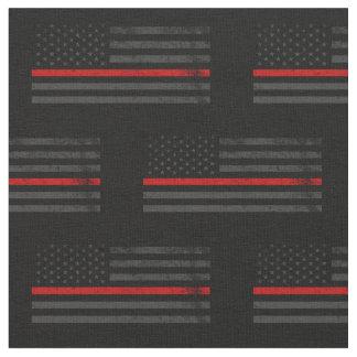 Tecido Bandeira afligida obscuridade do bombeiro