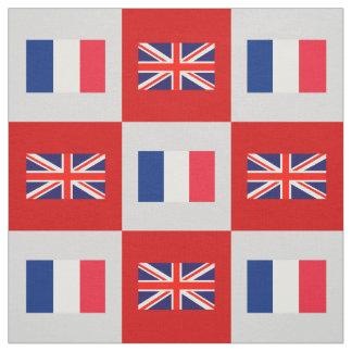 Tecido Bandeira BRITÂNICA, bandeira de France no vermelho