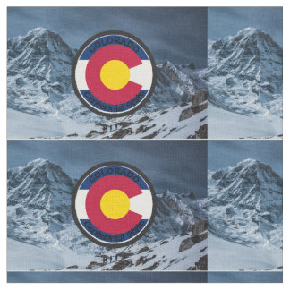 Tecido Bandeira da circular de Colorado