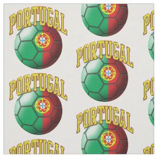 Tecido Bandeira do teste padrão português da bola de