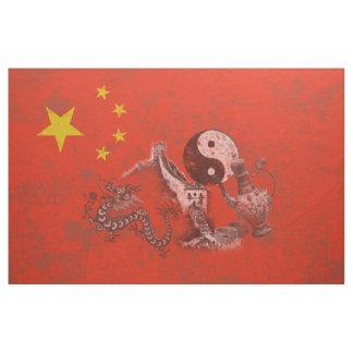 Tecido Bandeira e símbolos de China ID158
