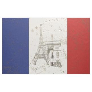 Tecido Bandeira e símbolos de France ID156