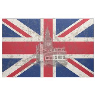 Tecido Bandeira e símbolos de Grâ Bretanha ID154