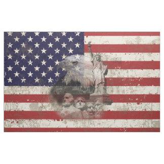 Tecido Bandeira e símbolos dos Estados Unidos ID155