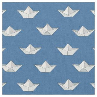 Tecido Barcos de Origami no teste padrão da água