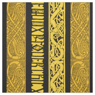 Tecido Beiras celtas no ouro