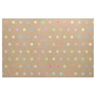 Tecido Bolinhas coloridas no fundo do papel de embalagem